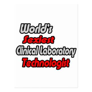 O tecnólogo clínico o mais sexy do laboratório d cartões postais