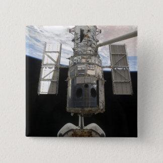 O telescópio espacial de Hubble é liberado Bóton Quadrado 5.08cm
