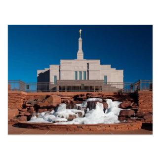 O templo da arizona LDS do floco de neve Cartão Postal
