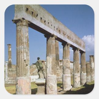 O templo de Apollo Adesivo Quadrado