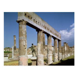 O templo de Apollo Cartão Postal