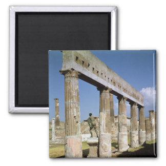 O templo de Apollo Ímã Quadrado