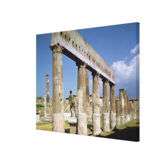 O templo de Apollo Impressão Em Tela