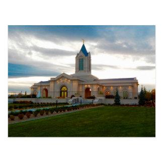 O templo de Fort Collins Colorado LDS Cartão Postal