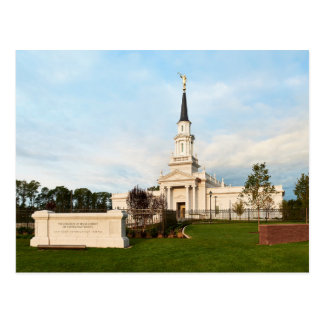 O templo de Hartford Connecticut LDS Cartão Postal
