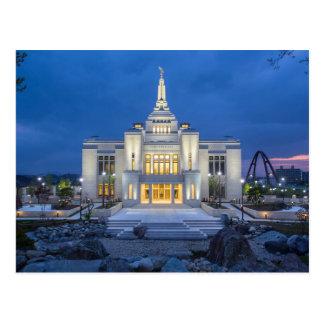 O templo de Sapporo Japão LDS Cartão Postal
