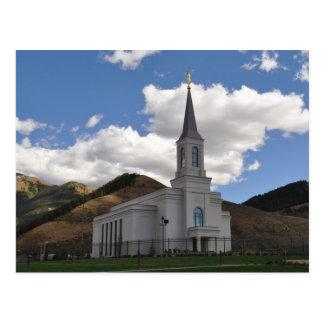 O templo de Wyoming LDS do vale da estrela Cartão Postal