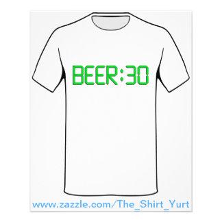 O tempo é a cerveja 30 panfletos coloridos