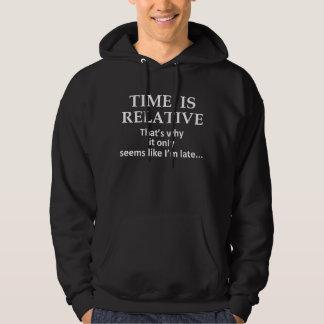 O tempo é relativo moleton com capuz