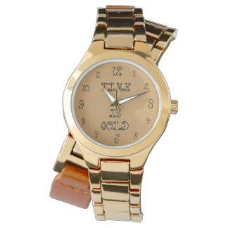 O tempo é relógio de ouro