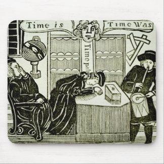 """O """"tempo é, tempo era"""", cópia de uma ilustração de mouse pad"""