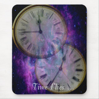 O tempo voa… mouse pad