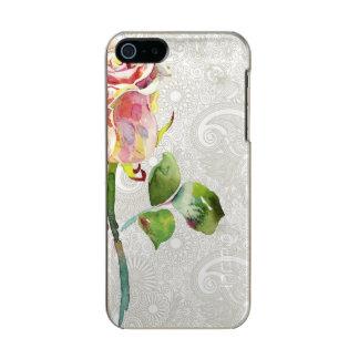 O teste padrão floral ornamentado com aguarela capa incipio feather® shine para iPhone 5