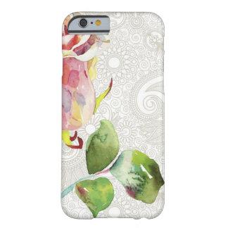 O teste padrão floral ornamentado com aguarela capa barely there para iPhone 6