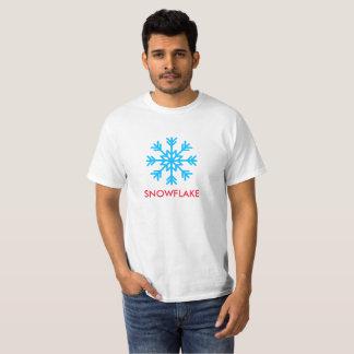 O texto e o ícone do floco de neve imprimiram no tshirts