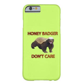 O texugo de mel não se importa, animal engraçado, capa barely there para iPhone 6