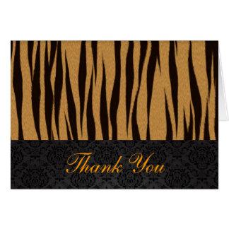 O tigre listra cartões de agradecimentos