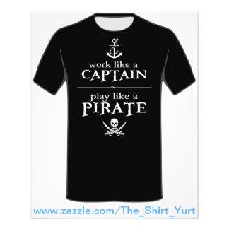 O trabalho como um capitão jogo gosta de um pirat