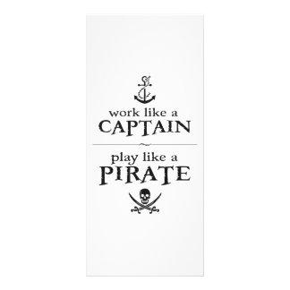 O trabalho como um capitão, jogo gosta de um pirat 10.16 x 22.86cm panfleto