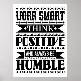 O trabalho Smart pensa o positivo e seja sempre Poster
