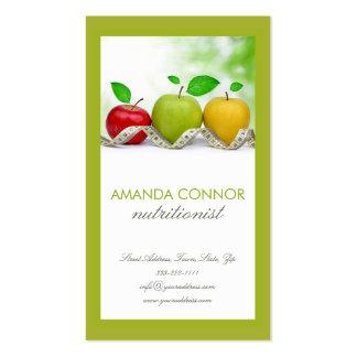 O treinador Apple da nutrição do nutricionista Cartão De Visita