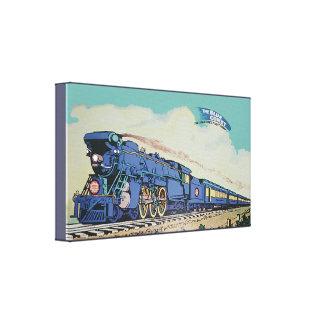 O trem azul central do cometa de New-jersey