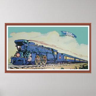O trem azul central do cometa de New-jersey Pôster