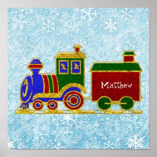 O trem de Choo Choo do Natal personaliza Pôster