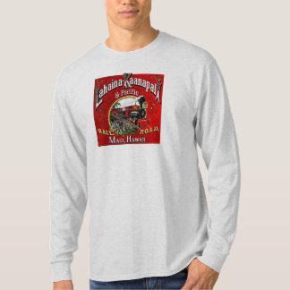O trem do cana-de-açúcar com locomotivas de camisetas