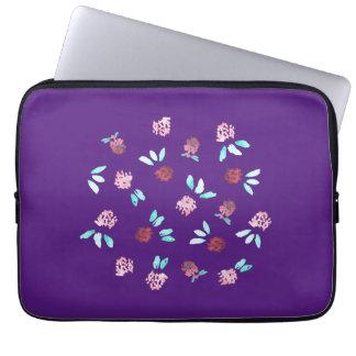 """O trevo floresce a bolsa de laptop 13"""" capas para notebook"""