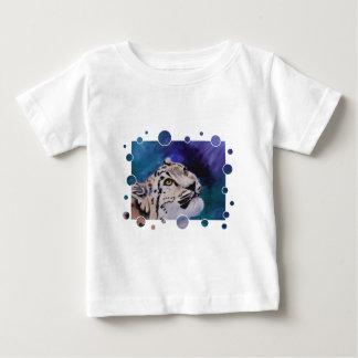 O Tshirt da criança das bolhas do leopardo de neve