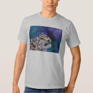 O Tshirt dos homens do leopardo de neve do bebê
