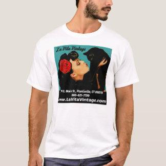O Tshirt dos homens do vintage de Vita do La