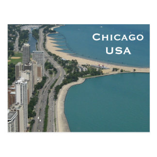 O turismo das viagens vintage de Chicago, EUA Cartão Postal