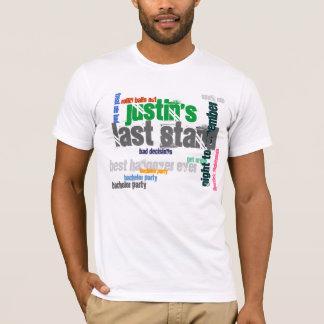 O último suporte do solteiro tshirt