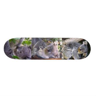 """O urso de Koala"""" deixou-nos fazer este"""" Shape De Skate 18,1cm"""