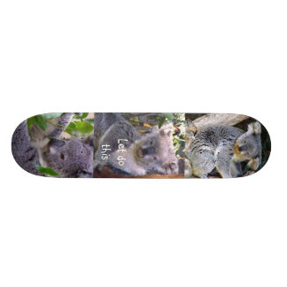 """O urso de Koala"""" deixou-nos fazer este"""" _Skateboar Shape De Skate 18,1cm"""