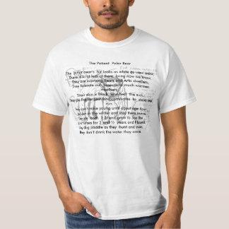 , o urso polar paciente, camisas animais da rima