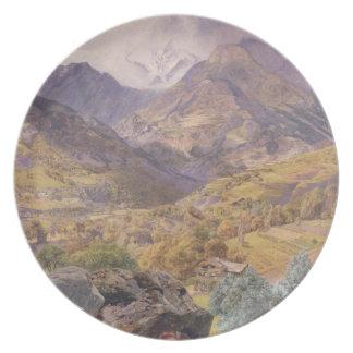 O Val - aosta de d ', 1858 (óleo em canvas) Louça De Jantar