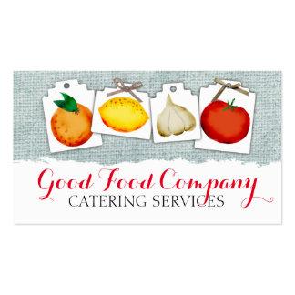 O vegetal de fruta etiqueta a restauração gasto do cartão de visita