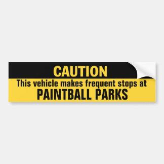 O veículo faz paradas freqüentes em parques do adesivo para carro