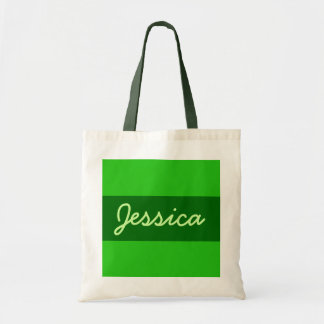 o verde adiciona seu nome bolsa tote