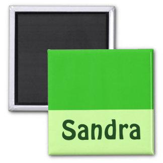 o verde adiciona seu nome ímã quadrado
