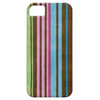 O verde azul roxo cor-de-rosa listrou a caixa do capas para iPhone 5