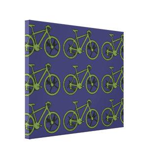 o verde bikes a parede da decoração impressão em tela