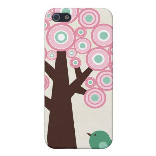 O verde cor-de-rosa na moda circunda o capa de iph iPhone 5 capas