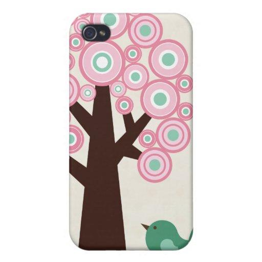 O verde cor-de-rosa na moda circunda o capa de iph iPhone 4 capas