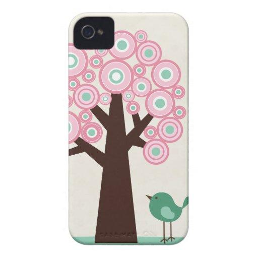O verde cor-de-rosa na moda circunda o capa de iph iPhone 4 capa