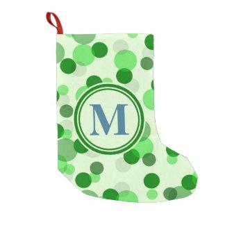 O verde customizável mancha o monograma bota de natal pequena