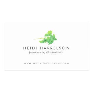O verde deixa o nutricionista, holístico, Naturopa Cartão De Visita